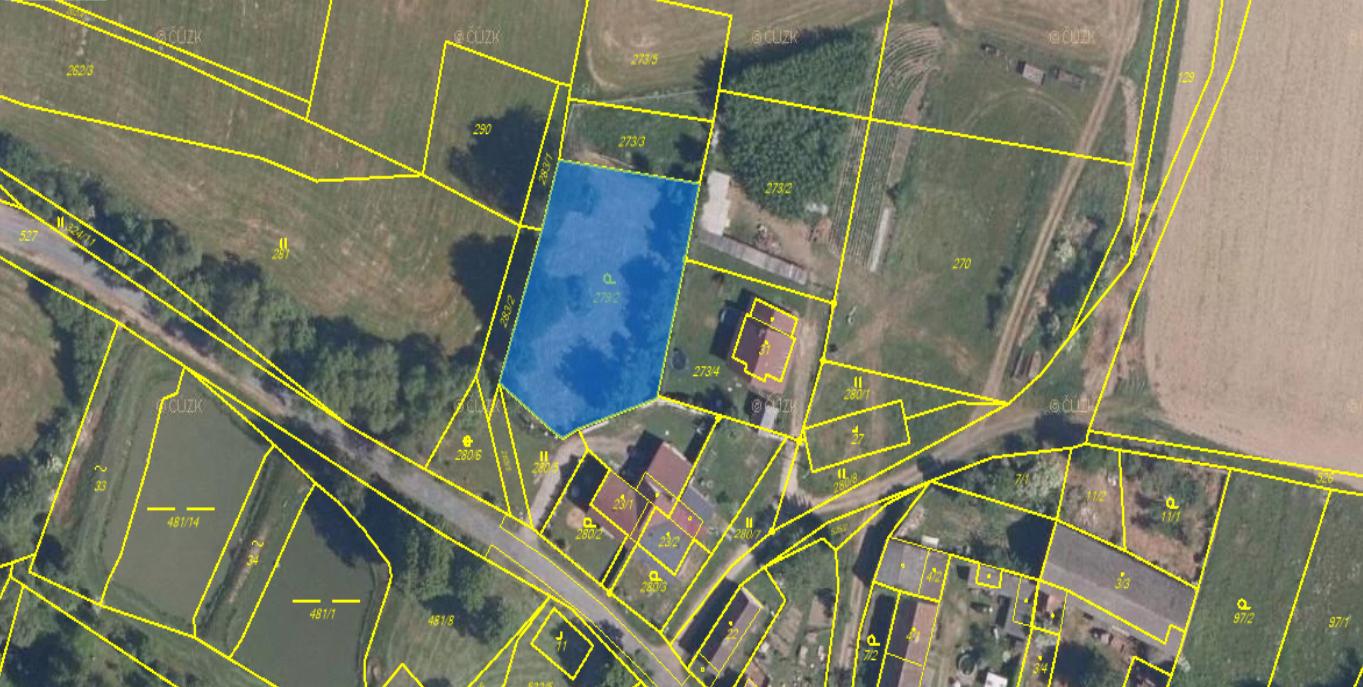 Prodej, pozemek pro bydlení, 1679m2, Hašov, okres Domažlice